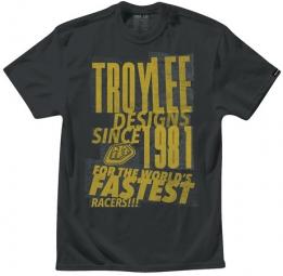 troy lee designs t shirt pasted noir l