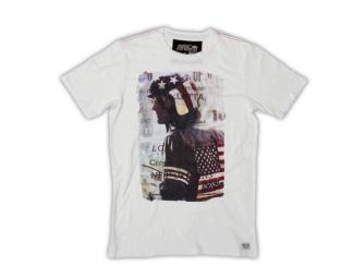 troy lee designs t shirt classic fonda blanc