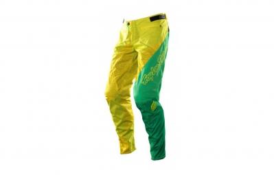 troy lee designs pantalon sprint turismo jaune vert