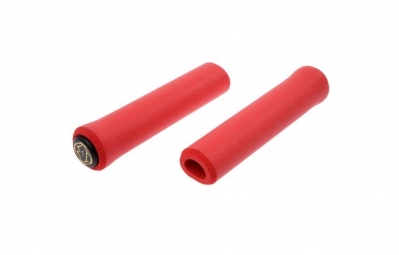 esi paire de grips extra chunky silicone rouge 34mm