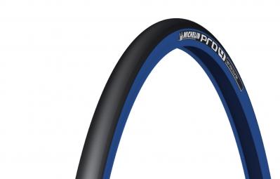 michelin pneu pro4 service course 700x23c souple bleu