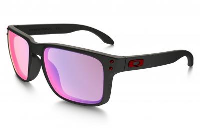 oakley paire de lunettes holbrook matte black positive red iridium ref oo9102 36