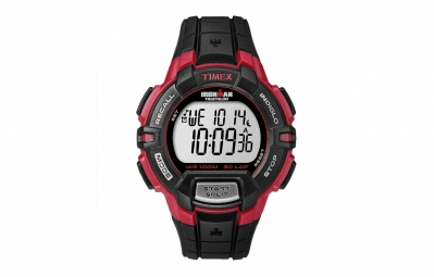 timex montre ironman rugged 30 lap noir rouge