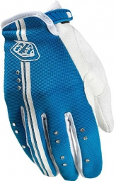 troy lee designs paire de gants longs ace femme bleu