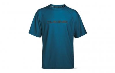 dakine maillot manches courtes rail bleu