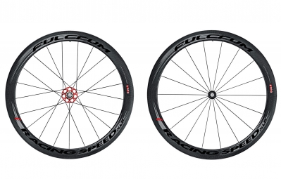 fulcrum paire de roues racing speed xlr 50 dark label boyaux campagnolo