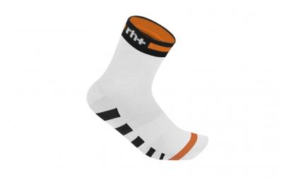 zero rh paire de chaussettes ergo 6 blanc noir orange