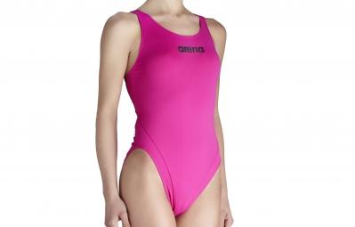 arena maillot de bain femme makinas high rose violet