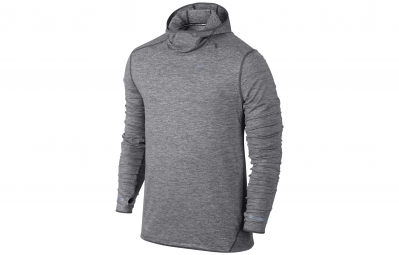 nike pull a capuche element gris homme