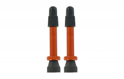 var kit 2 valves tubeless aluminium 35 mm orange