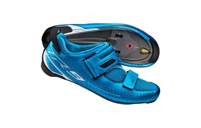 chaussures triathlon shimano tr9 bleu