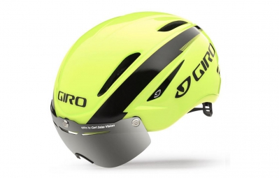 casque giro air attack shield jaune fluo noir