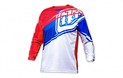 troy lee designs maillot sprint gwin rouge blanc bleu