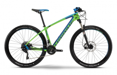 haibike 2016 velo complet carbone freed 7 40 27 5 vert bleu