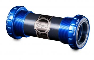 chris king boitier de pedalier externe threadfit 24 bleu