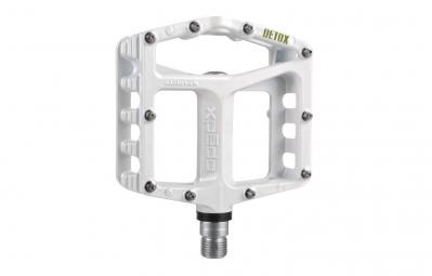 xpedo paire de pedales vtt detox 9 16 magnesium blanc
