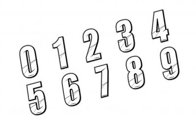 maikun numero pour plaque bmx blanc 8 cm