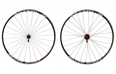 asterion paire de roues silver sport 22 rouge corps de roue libre campagnolo