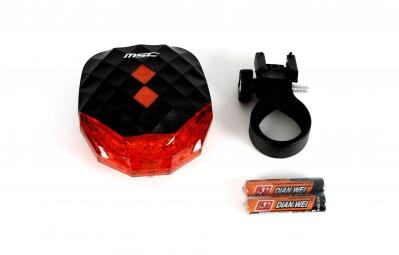 msc bikes eclairage securite arriere led laser noir