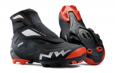 paire de chaussures northwave celsius 2 gtx black red