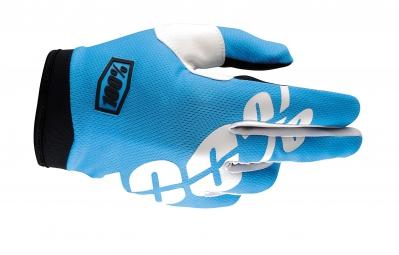 100 paire de gants itrack bleu