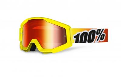 100 masque strata sunny days jaune ecran rouge iridium