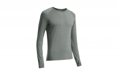 icebreaker maillot manches longues homme zone ls crewe metal spark