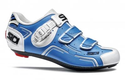 chaussures route sidi level bleu blanc