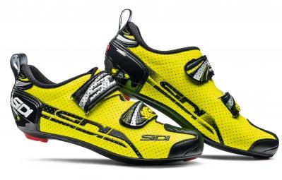 sidi paire de chaussures triathlon t4 air jaune fluo noir