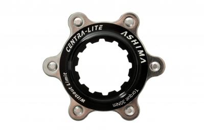 ashima adaptateur center lock noir pour montage 6 trous