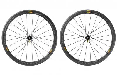 paire de roues mavic 2016 ksyrium pro carbon sl disc shimano sram pneu yksion pro 25