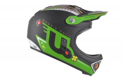casque integral urge down o matic veggie 2016 vert noir
