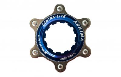 ashima adaptateur center lock bleu pour montage 6 trous