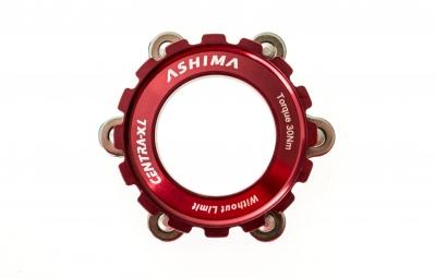 ashima adaptateur roue center lock 15 20mm pour disque 6 trous rouge