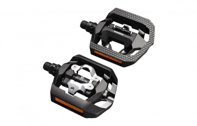 shimano paire de pedales clickr face plate t420 noir