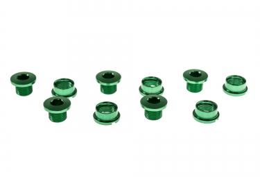 ice kit de 5 vis cheminee r bolt 6 5mm vert