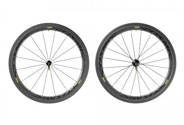 mavic 2016 paire de roues cosmic carbone 40 boyaux yksion pro 23mm