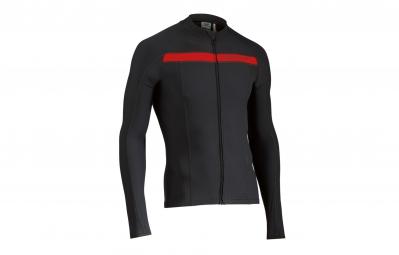 northwave maillot manches longues celsius noir rouge
