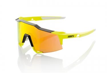 100 lunettes speedcraft ll jaune fluo ecran rouge iridium