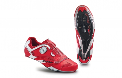 chaussures route northwave sonic 2 carbon rouge blanc