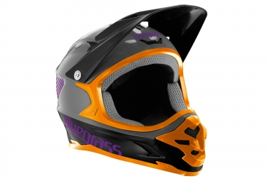 casque integral bluegrass intox gris orange
