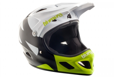 casque integral bluegrass explicit noir blanc