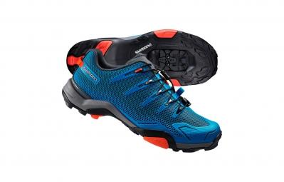 chaussures vtt shimano mt44 spd click r bleu 2016