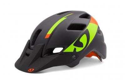 casque giro feature noir vert orange mat