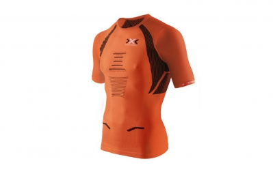 x bionic maillot the trick running orange noir