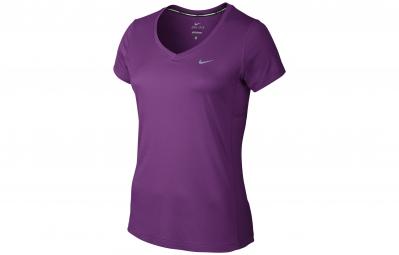 nike maillot miler violet femme