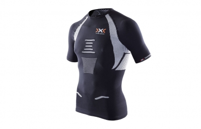x bionic maillot the trick running noir blanc