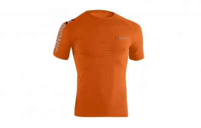 x bionic t shirt speed running orange