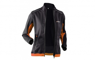 x bionic veste coupe vent spherewind winter running noir orange