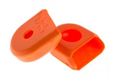 race face paire de proteges manivelles carbone boot pedal orange